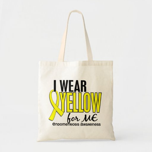 Llevo el amarillo para mí la endometriosis 10 bolsas de mano