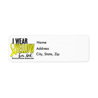 Llevo el amarillo para mí la endometriosis 10 etiqueta de remitente