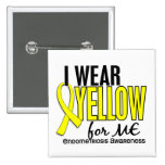 Llevo el amarillo para mí la endometriosis 10 pin