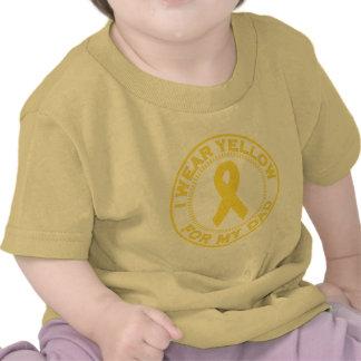 Llevo el amarillo para mi papá camisetas