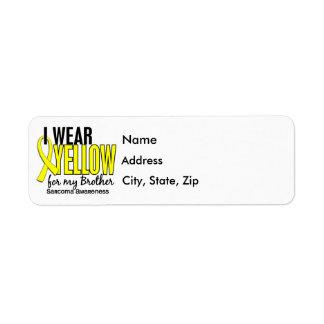 Llevo el amarillo para mi sarcoma de Brother 10 Etiqueta De Remite