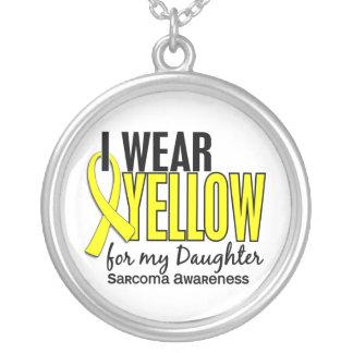 Llevo el amarillo para mi sarcoma de la hija 10 colgante redondo