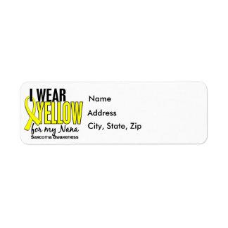 Llevo el amarillo para mi sarcoma de Nana 10 Etiquetas De Remite