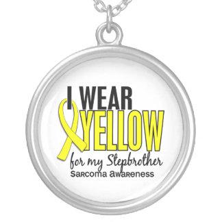 Llevo el amarillo para mi sarcoma del hermanastro  colgante redondo