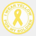 Llevo el amarillo para mi soldado etiqueta