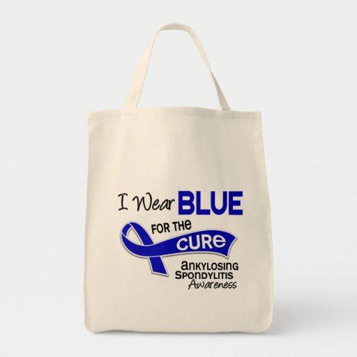 Llevo el azul para la curación 42 Spondylitis Anky Bolsa De Mano