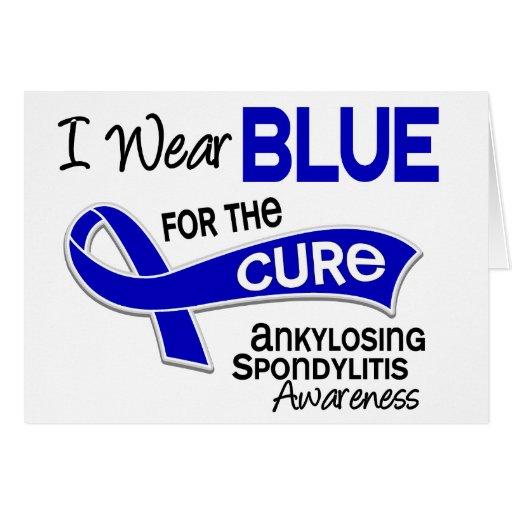 Llevo el azul para la curación 42 Spondylitis Anky Tarjetón