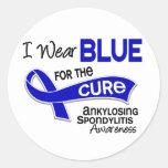 Llevo el azul para la curación 42 Spondylitis Etiquetas Redondas