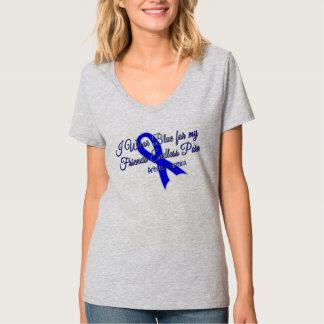 Llevo el azul para mi camiseta sin fin del dolor remeras