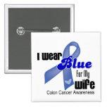 Llevo el azul para mi cáncer de colon de la esposa pin