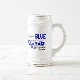 Llevo el azul para mi cáncer de colon de la herman jarra de cerveza