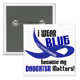 Llevo el azul para mi CÁNCER DE COLON de la hija 3 Pins