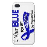 Llevo el azul para mi cáncer de colon de la hija 4 iPhone 4 cárcasa