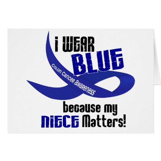 Llevo el azul para mi CÁNCER DE COLON de la sobrin Tarjeton