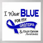 Llevo el azul para mi cáncer de colon del abuelo 4 poster