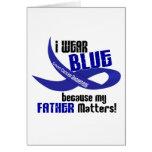 Llevo el azul para mi CÁNCER DE COLON del padre 33 Felicitaciones