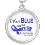 Llevo el azul para mi cáncer de colon del papá 42 collar personalizado