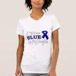 Llevo el azul para mi hija (Blue Ribbon) Camisetas