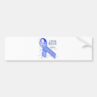Llevo el azul para mi hija etiqueta de parachoque
