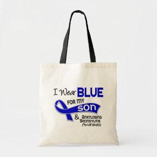 Llevo el azul para mi hijo 42 Spondylitis Ankylosi Bolsa De Mano