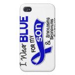 Llevo el azul para mi hijo 42 Spondylitis Ankylosi iPhone 4 Cárcasa