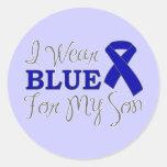 Llevo el azul para mi hijo (la cinta azul de la co pegatina redonda