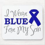 Llevo el azul para mi hijo (la cinta azul de la co tapetes de ratón
