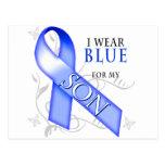 Llevo el azul para mi hijo postal