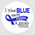 Llevo el azul para mi mamá 42 Spondylitis Ankylosi Etiqueta