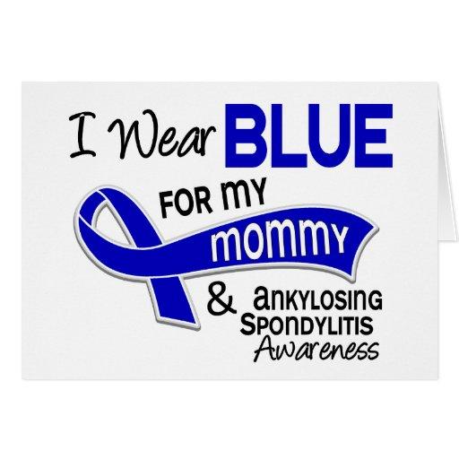 Llevo el azul para mi mamá 42 Spondylitis Ankylosi Felicitacion