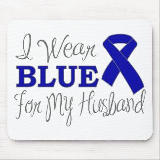 Llevo el azul para mi marido la cinta azul de la tapetes de ratón