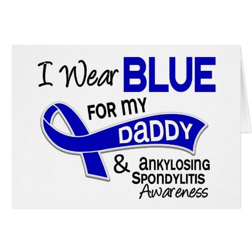 Llevo el azul para mi papá 42 Spondylitis Ankylosi Tarjetón