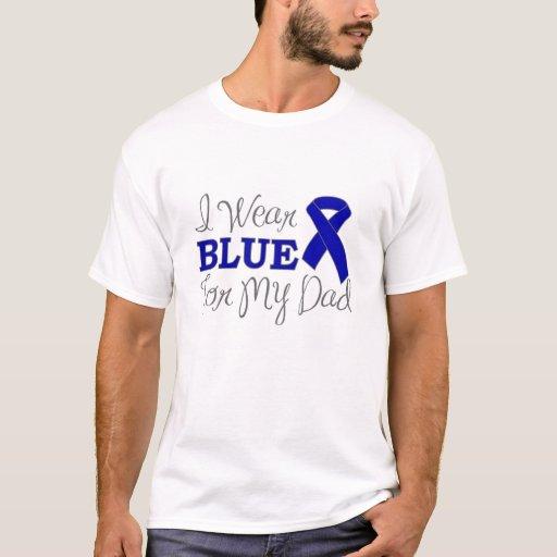 Llevo el azul para mi papá (la cinta azul de la playera
