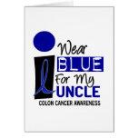 Llevo el azul para mi ropa del tío 9 CÁNCER DE COL Tarjeta