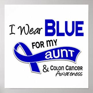 Llevo el azul para mi tía 42 cáncer de colon póster