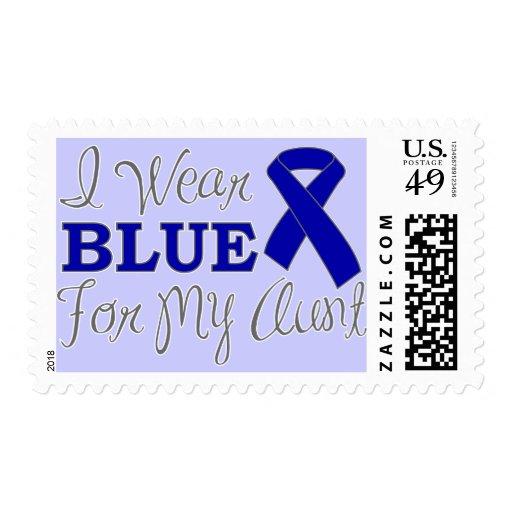 Llevo el azul para mi tía (la cinta azul de la con franqueo