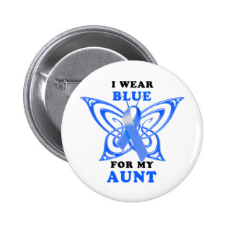 Llevo el azul para mi tía pin redondo de 2 pulgadas