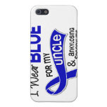 Llevo el azul para mi tío 42 Spondylitis Ankylosin iPhone 5 Carcasa