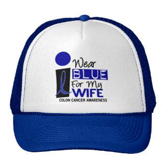 Llevo el azul para mis camisetas del CÁNCER DE COL Gorras De Camionero