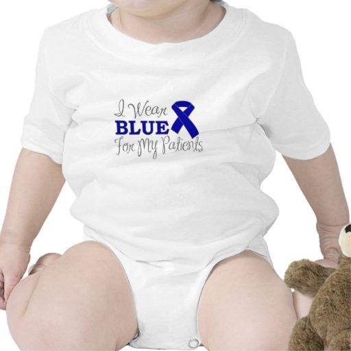 Llevo el azul para mis pacientes (Blue Ribbon) Camiseta