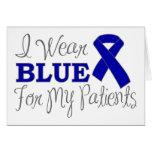 Llevo el azul para mis pacientes (Blue Ribbon) Felicitaciones