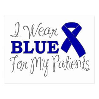 Llevo el azul para mis pacientes (Blue Ribbon) Tarjetas Postales