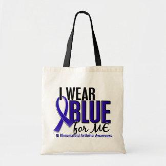 Llevo el azul yo RA de la artritis reumatoide Bolsa Tela Barata