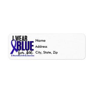 Llevo el azul yo RA de la artritis reumatoide Etiquetas De Remite