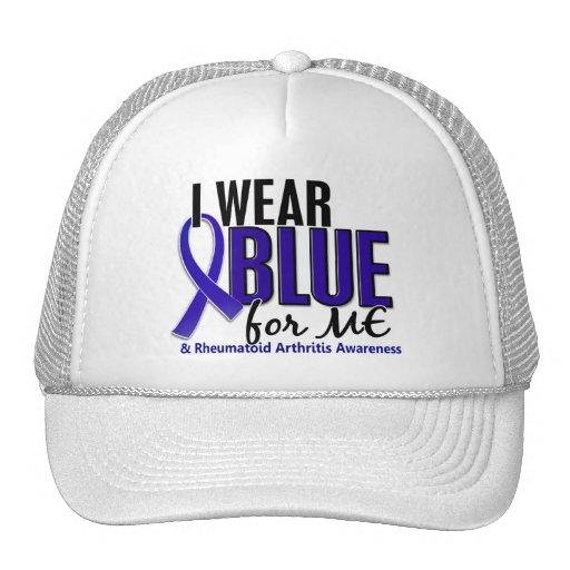 Llevo el azul yo RA de la artritis reumatoide Gorros