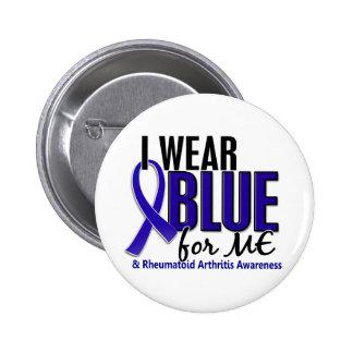 Llevo el azul yo RA de la artritis reumatoide Pin Redondo De 2 Pulgadas