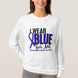 Llevo el azul yo RA de la artritis reumatoide Playera