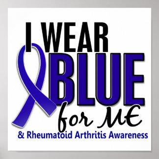 Llevo el azul yo RA de la artritis reumatoide Póster