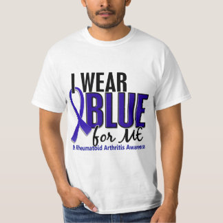 Llevo el azul yo RA de la artritis reumatoide Remera