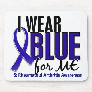 Llevo el azul yo RA de la artritis reumatoide Tapete De Ratón